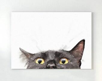 Cat Wall Art cat print cat art cat wall art geometric cat print cat