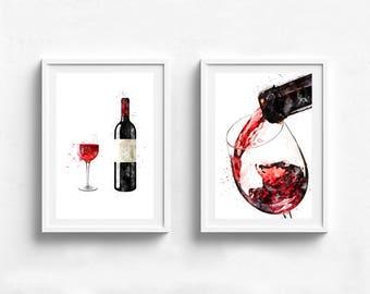 Wine Wall Art wine wall decor | etsy