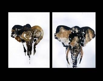 "Original artwork: ""Memo"" - opera originale ""Memo""/elephants, animals, safari - elefanti, animali"