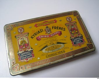 kyriazi freres No. 6. empty cigarette tin