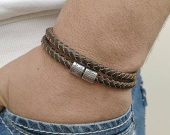 MENS BRACELET Men's Celtic Bracelet Irish Leather Bracelet  Mens Leather Bracelet Celtic Knot Bracelet Cuff Gift for him, Men's Bracelet