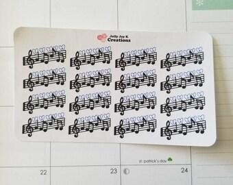 Choir Practice Stickers