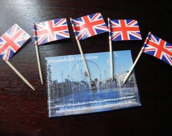5 mini flags of Great Britain 6.5 paper cm