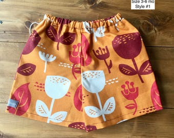 The Madrid Shorts: Size 3-6 month