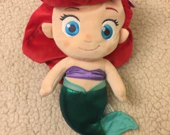 Ariel the mermaid chalk bag, rock climbing bag, drawstring bag, trinket bag, stroller bag