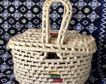 Woven bag; wicker bag; rattan bag; top handle bag; basket bag; basket purse; baskets