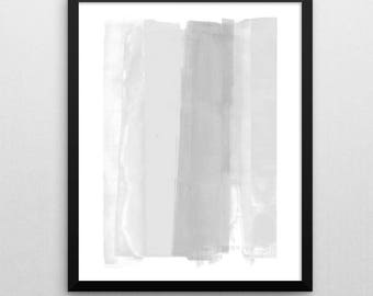 Modern Minimalist Abstract Print, Instant Download Printable Art, Subtle Grey & White Contemporary Painting Wall Art, Interior Design