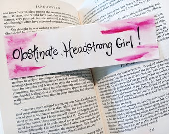 Obstinate, Headstrong Girl! Bookmark