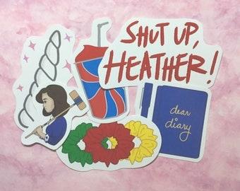 Heathers sticker set