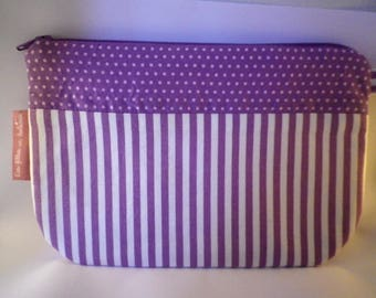 Makeup fabric polka dots and stripes - to - gift idea