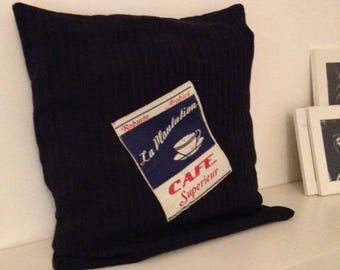 jersey knit pillow cover Navy Blue