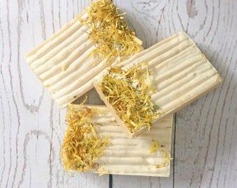 Pineapple + Papaya Soap - All Natural, Handmade, Cold Process, Vegan Soap (Coconut Free)