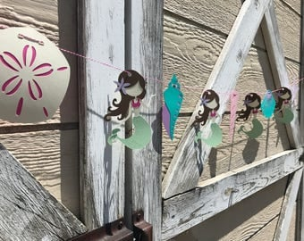 Mermaid Banner - Mermaid First Birthday - Mermaid Birthday - Under the Sea - Girl Birthday