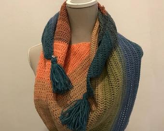 Dragon Tail Wool Shawl