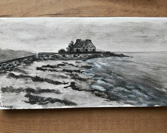Trinidad sea watercolor postcards
