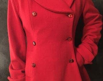 Red Vintage over coat