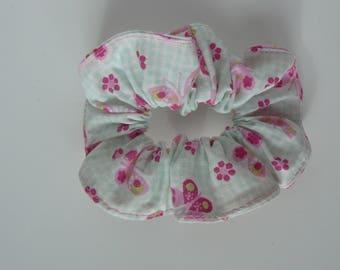 Darling little model fabric green mint and pink butterflies