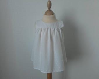 Sleeveless, 4t, white satin top