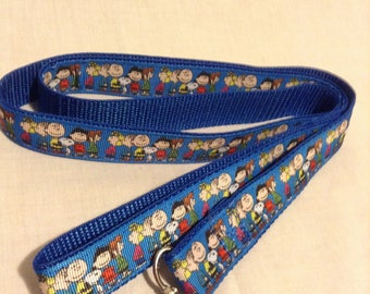 Snoopy and Charlie Brown dog collar or leash