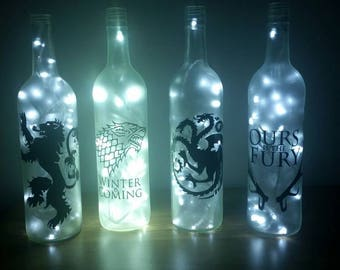 Game Of Thrones Banner Bottle Lamps