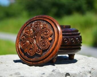 Ring box rings storage Rustic Wood Box rustic wedding proposal ring box sculpted wooden box Small Wooden Box treasury box valentines
