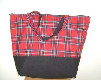 Tote Bag Tartan  Royal Stewart
