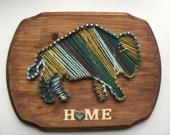 Buffalo NY home string art