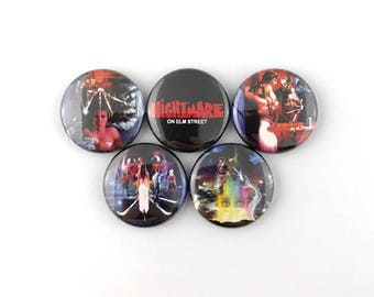 "A Nightmare on Elm Street Poster Collection - 1"" Button Pin Set"