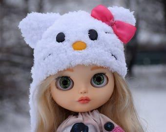 Blythe Hat Blythe  Kitty Hat  Blythe Outfit Blythe  Kitty Hat Blythe Doll Clothes Blythe Cat Hat Blythe kitty Blythe kitty helmet