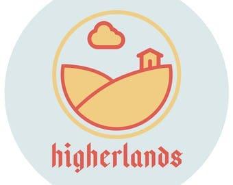 higherlands logo pin