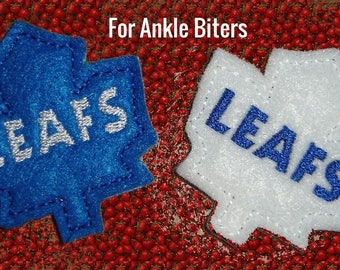 Custom Leafs Felties Hockey Feltie Maple Leaf Felties Maple Leaf Feltie Hair Bow Accent Sports Logo Felties