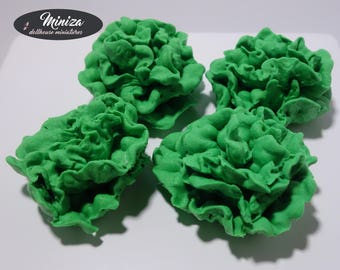 Miniature Green Lettuce Heads, 1:12 scale