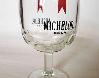 1970's Michelob Beer Chalice/Goblet/Glass, Vintage Barware Advertising