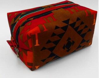 WhoosInUrPanties PUL Lined Canvas Box Bag - Cloth Pad Storage - Toiletry Bag