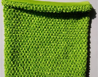 STRAPLESS stretch Double 2-6 green lemon crochet for making TUTU dress