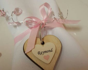 Name Heart. Wedding guests. Wooden hearts. Napkin name hearts. Wooden name hearts. Wedding. Place names. Table decoration.