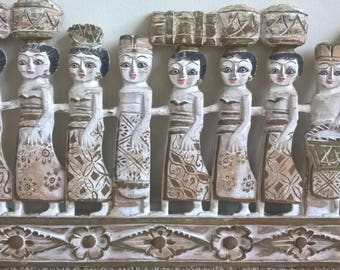 hand wood sculpture 17 women ethnic carved wood wall art