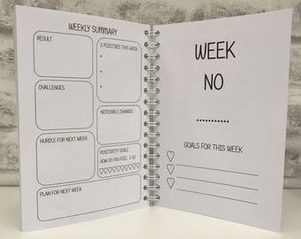 12wk SW Planner 8, Diet Journal, Food Diary Slimming World Compatible, Tracker, Menus, Notebook - PLANNER 8