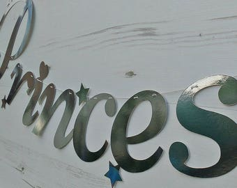 Princess Paper Garland in Silver or Gold Lettering
