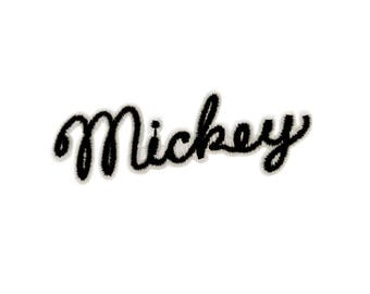 Mickey Mouse Iron On Applique, Genuine DISNEY Iron On Patch, Mickey Mouse Patch, Kids Patch, Disney Patches, Disney Patches (119401)