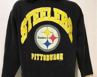 Vintage 1993 Pittsburgh Steelers Hoodie L