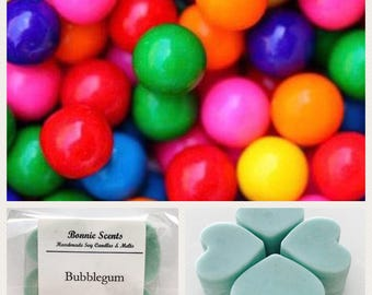 Soy melts. Bubblegum scented. Hearts