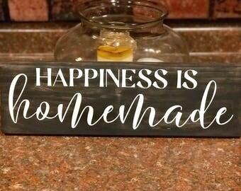Happiness is Homemade, Happiness is Homemade Sign, Happiness is Homemade Wood Sign, Happiness is Sign, Family Room Sign, Family Room Decor