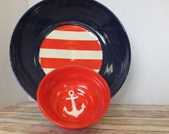 Two-Piece Nautical Chip and Dip Set