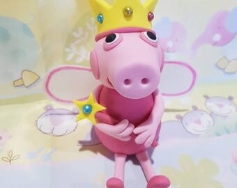Peppa Pig Fairy Cake Topper, edible birthday cake decoration