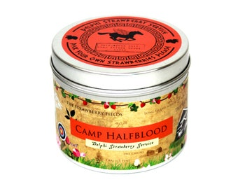 Camp half blood Delphi Strawberry Service bookish scented candle - bookish candle - percy jackson candle - percy jackson - camp half blood