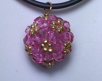 Hana-ami ball pendant necklace