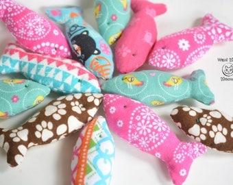 Cat toys, Catnip toy, Fish cat toy, Unique cat toys, Food cat toys, Organic catnip toy, Cat gift, Vegan, Eco friendly, Handmade cat toy