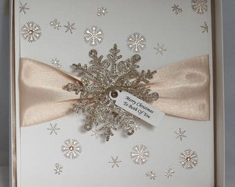 Personalised Snowflake Christmas card.