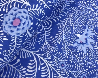 Ferns in Periwinkle from the Kaffe Fassett Spring 2015 Collection